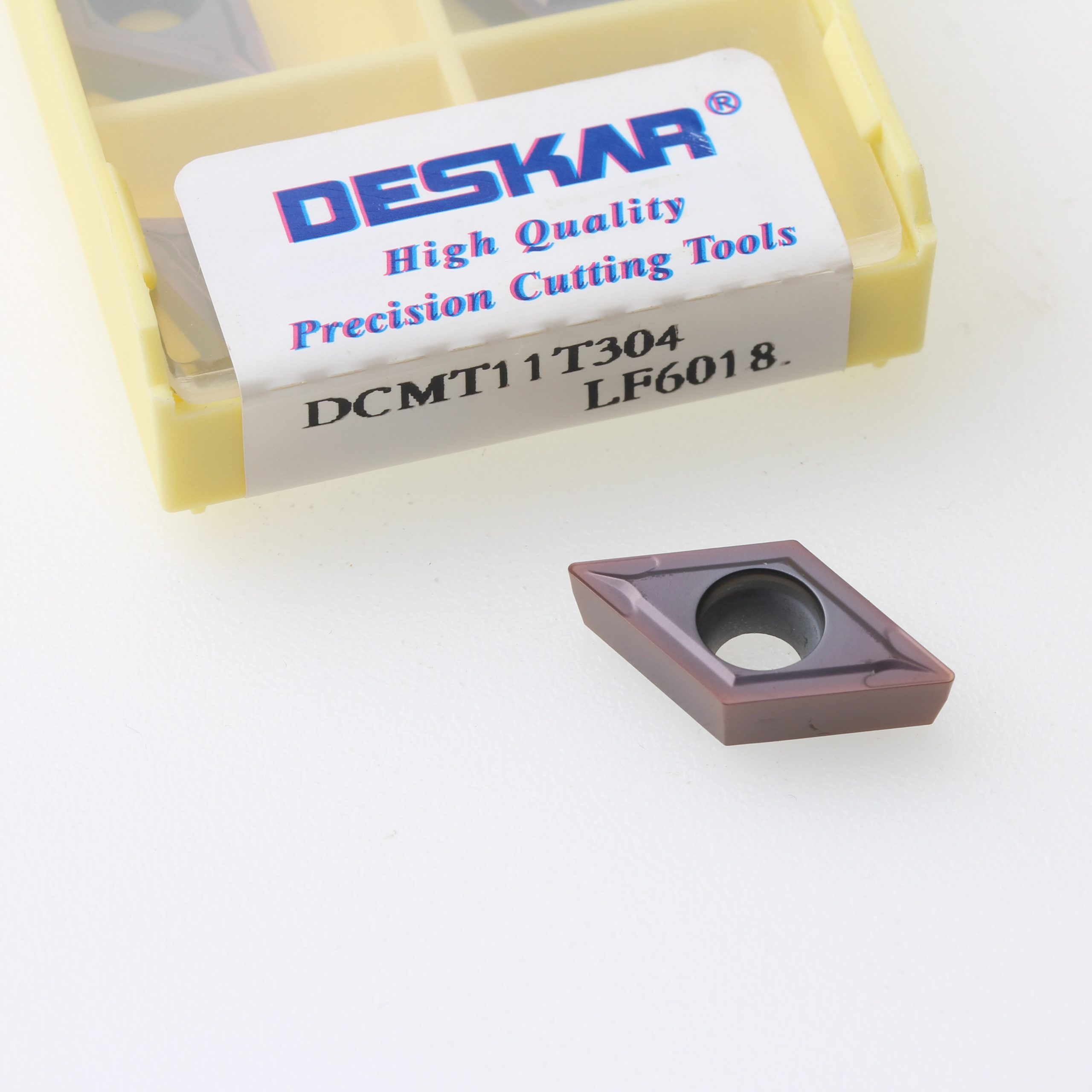 10PCS DESKAR DCMT070204-MV DCMT070208 MV DCMT11T304 DCMT11T308 LF6018 CNC Lathe Cutter Cutting Carbide Inserts Turning Tools